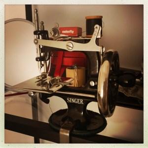 Antique Singer treadle sewing machine.