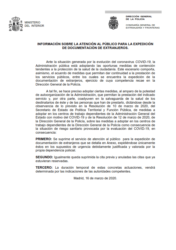 medEXPEDICIÓN DE DOCUMENTACIÓN DE EXTRANJEROS