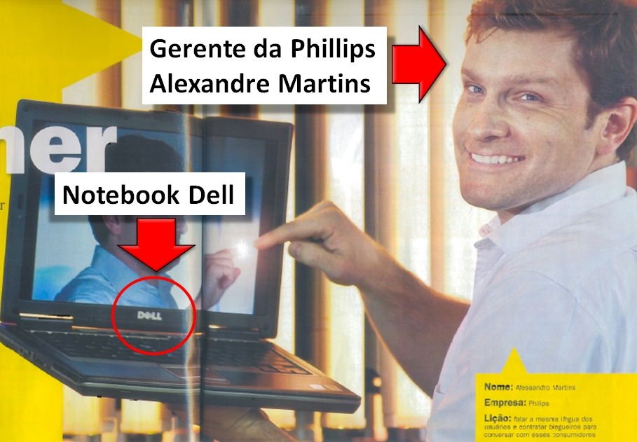 Alexandre Martins e o notebook Dell