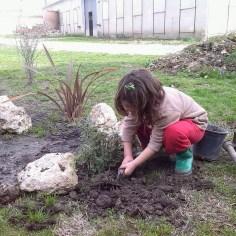 Plantando en la orilla 1