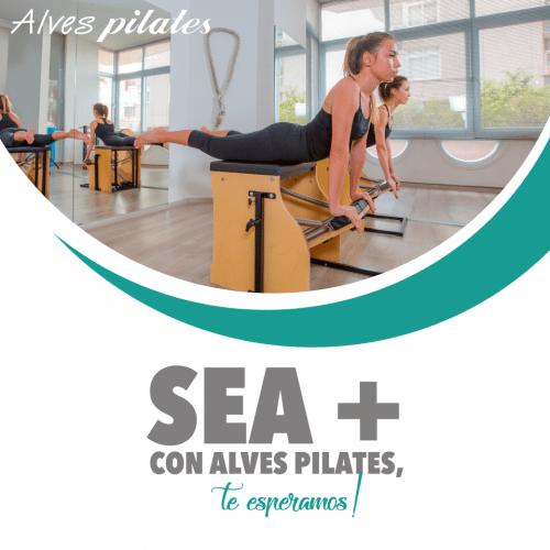Logotipo Sea + de Alves Pilates