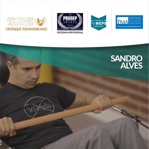 Foto de Sandro Alves, instructor de pilates