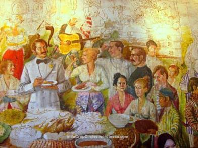 Lukisan mural di Museum Fatahilah karya Harijadi Sumodidjojo (sumber dari: Indocropcircles.wordpress.com)