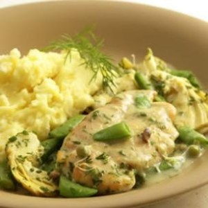 Chicken with Sugar Snap Peas and Spring Herbs - Eating Well