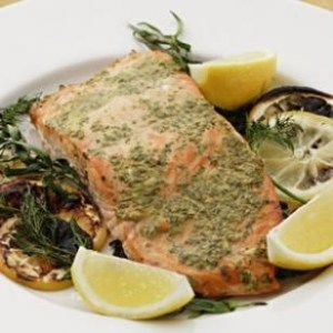Grilled Salmon with Mustard and Herbs - Eating Well