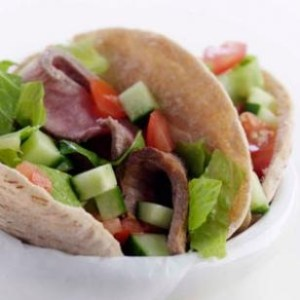 Steak Salad-Stuffed Pockets - Eating Well