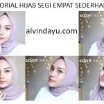 Cara Memakai Hijab Segi Empat Sederhana