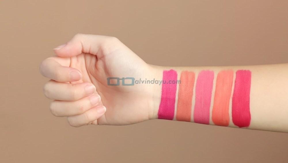 Swatch Wardah Exclusive Matte Lip Cream Kategori Bright