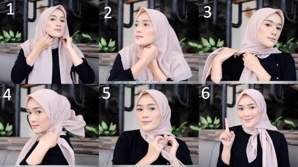 Tutorial Hijab Segi Empat Terbaru Simple Tapi Modis