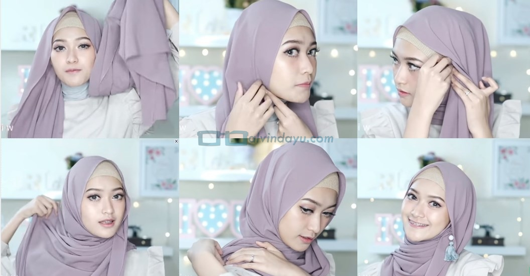 Tutorial Hijab Pashmina Pesta Pernikahan