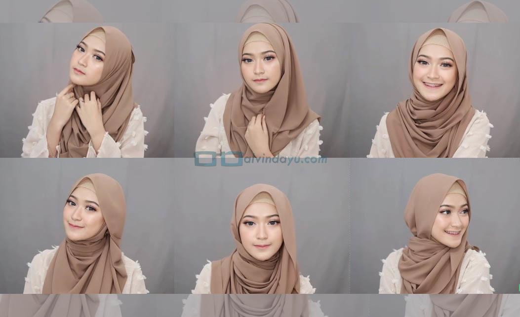 6 Style Tutorial Hijab Pashmina Simple Syar I Menutup Dada Cantik Modis Dan Kekinian Dyah Ayu Alvinda