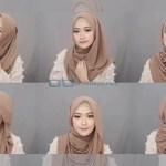 Tutorial Hijab Pashmina Simple Syari Menutup Dada Modis Modern