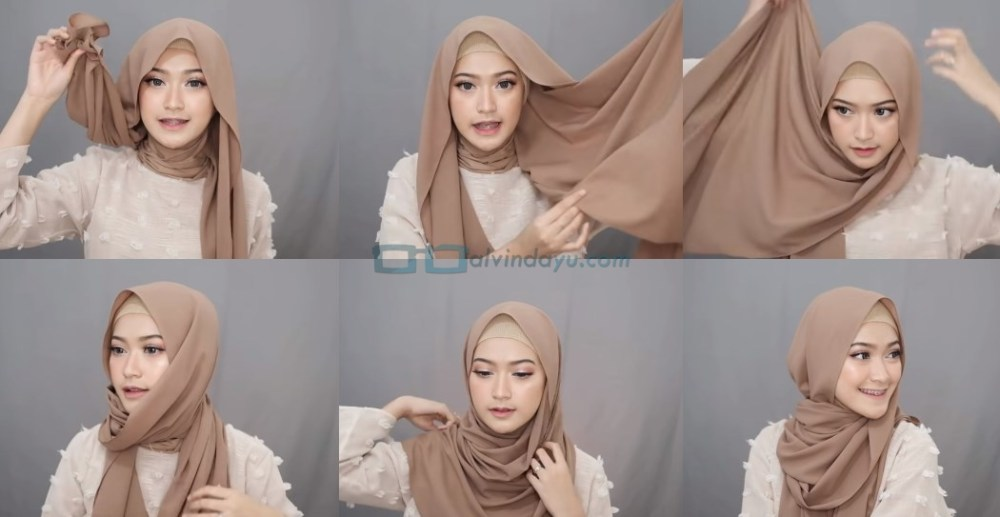 Tutorial Hijab Pashmina Simple Syari Menutup Dada