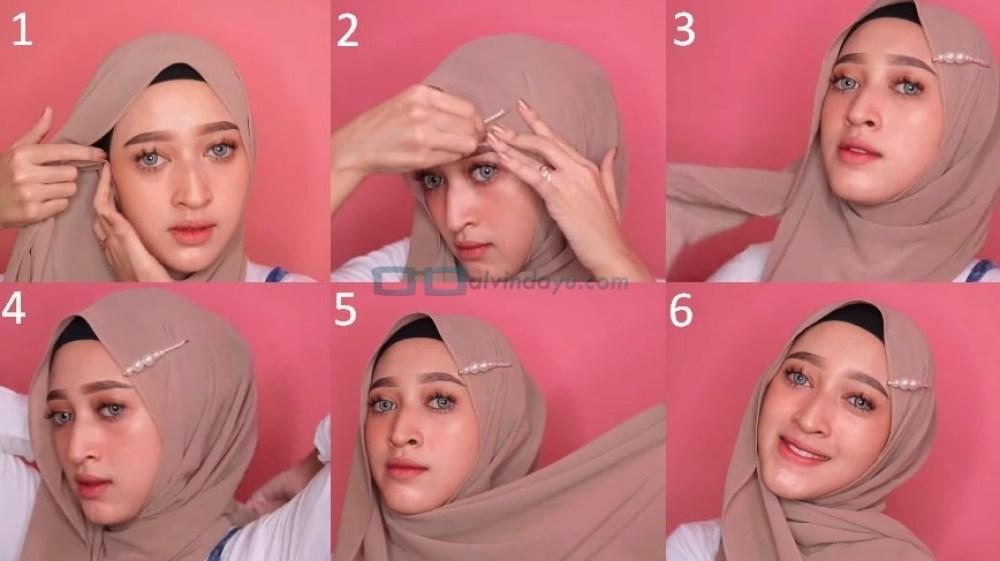 Tutorial Hijab Pashmina Simple dan Mudah Ala Sabyan