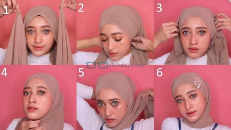 Tutorial Hijab Pashmina Simple dan Mudah Kekinian