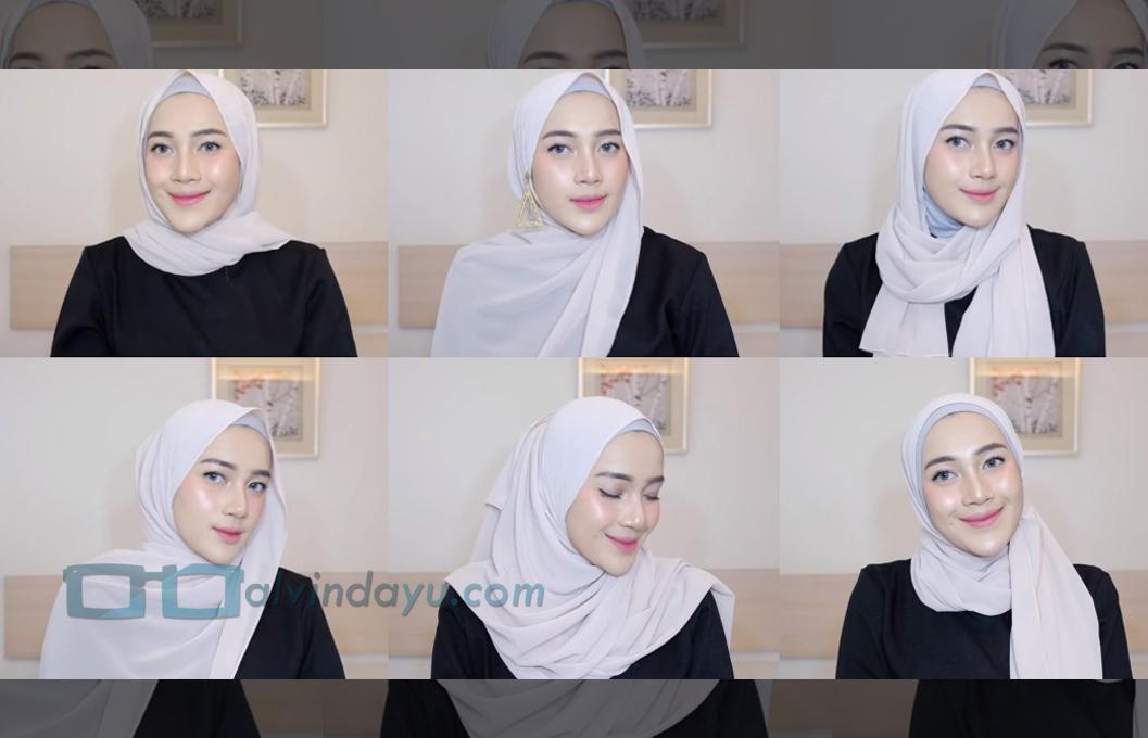 Tutorial Hijab Pashmina Diamond Ala Selebgram Hijabfest