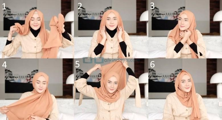 Tutorial Hijab Pashmina untuk Kuliah Simple Ala Selebgram