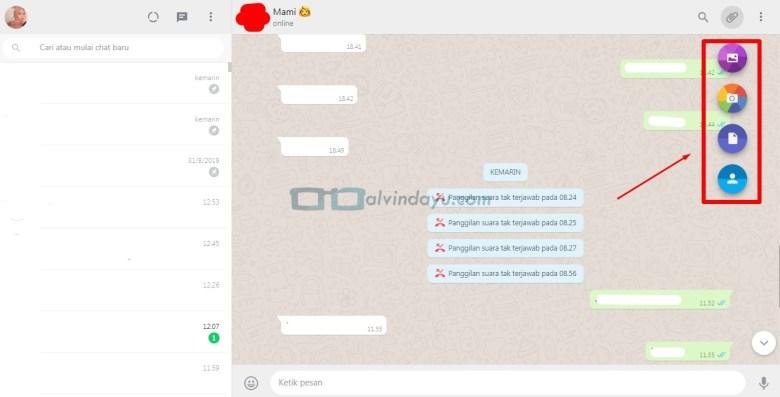 Kirim File, Gambar, Kontak di WhatsApp Web