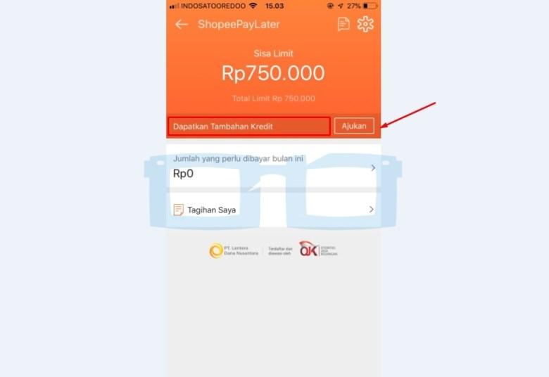Ajukan Tambah Limit Kredit Shopee Paylater