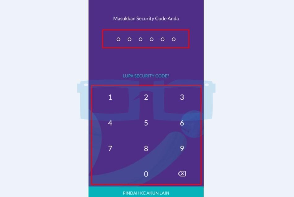 Buka Aplikasi OVO dan Masukkan PIN Security Code