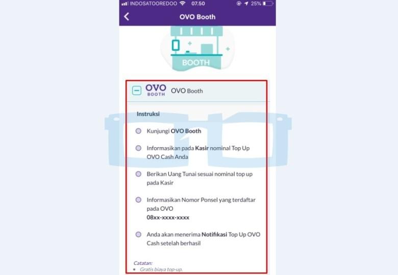 Cara Top Up OVO di OVO Booth