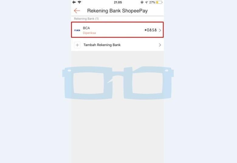 Rekening Bank Shopeepay Berhasil Ditambahkan dan Sedang Diperiksa