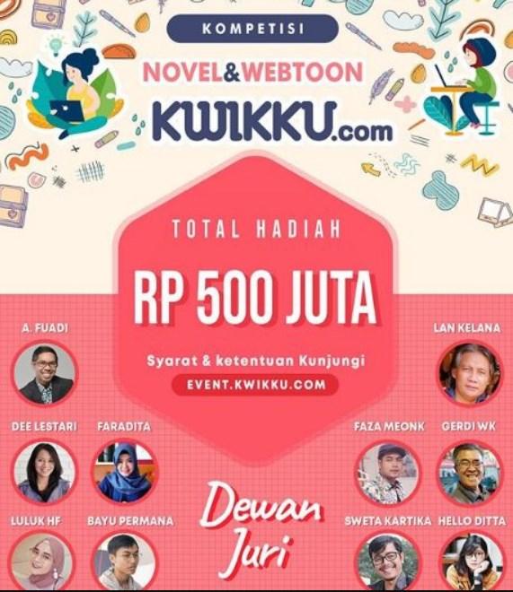 Kompetisi Menulis Novel dan Webtoon by Kwikku