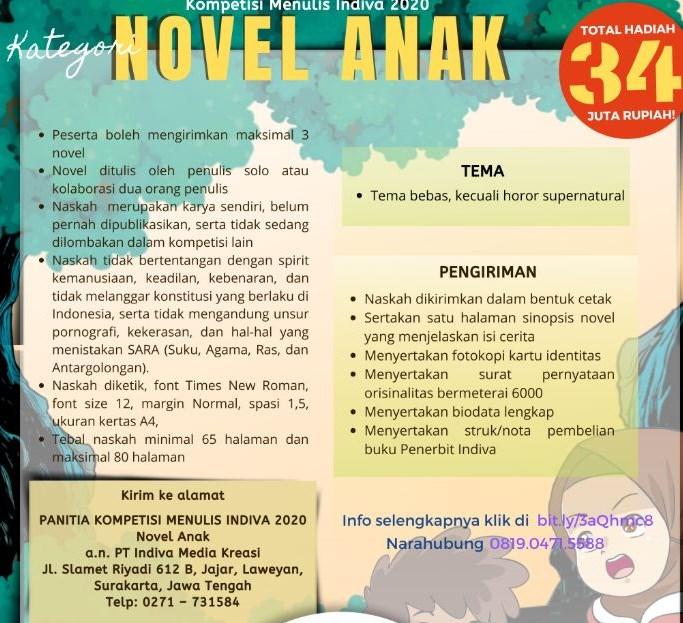 Lomba Menulis Novel Anak by Indiva Media Kreasi
