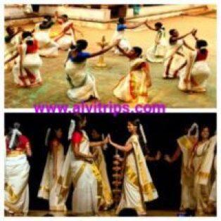 तिरूवातिरा नृत्य फेस्टिवल के सुंदर दृश्य