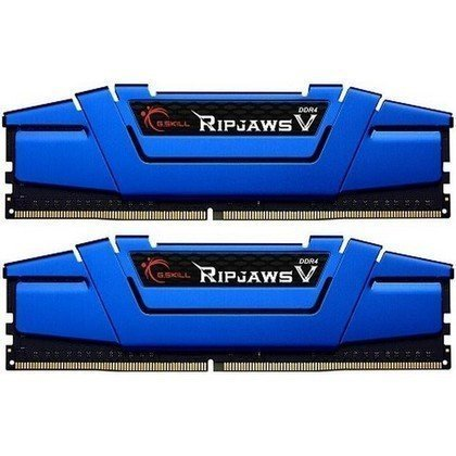 G.SKILL Ripjaws V Series 16GB 2 X 8GB 288 Pin DDR4 SDRAM DDR4 2400 PC4 19200 Desktop Memory Model Blue F4 2400C15D 16GVB