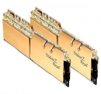 G.SKILL Trident Z Royal Series 16GB 2x8GB DDR4 3000 PC4 24000 Desktop Gold F4 3000C16D 16GTRG