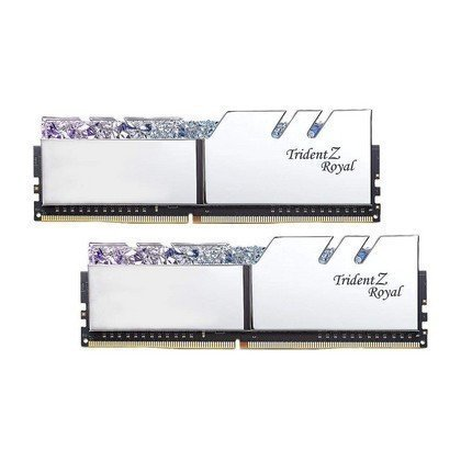 G.SKILL Trident Z Royal Series 32GB 2 X 16GB 288 Pin RGB DDR4 SDRAM DDR4 3200 PC4 25600 Desktop Memory Model Silver F4 3200C16D 32GTRS 2