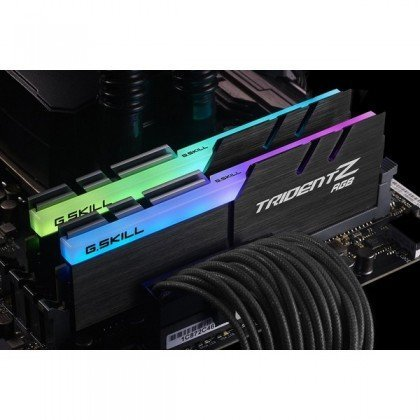 G.SKILL TridentZ RGB Series 16GB 2 X 8GB DDR4 SDRAM Memory Model F4 4000C18D 16GTZR 2