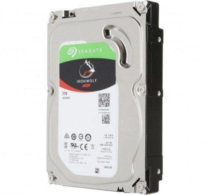 Seagate 2TB IronWolf NAS SATA Hard Drive 6GbS 256MB Cache 3.5 Inch Internal Hard Drive For NAS Servers Personal Cloud ST2000VN004
