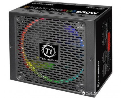Thermaltake Smart Pro 850W Fully Modular RGB Fan 80 Plus Bronze Power PS SPR 0850FPCBEU R