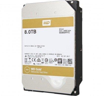 Western Digital WD Gold 8TB Datacenter Hard Disk Drive 7200 RPM Class SATA 6 GbS 128MB Cache WD8002FRYZ