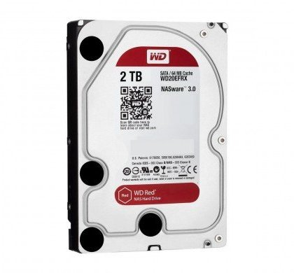 Western Digital WD Red 2TB NAS Hard Disk Drive 5400 RPM Class SATA 6GbS 64MB Cache WD20EFRX