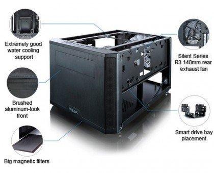 Fractal Design Core 500 Black ITX Computer Case FD CA CORE 500 BK
