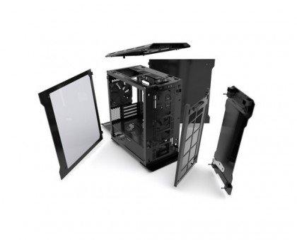 Phanteks EVOLV Micro ATX Tempered Glass Aluminum Exterior LED Case Galaxy Silver PH ES314ETG GS