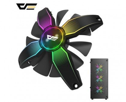 darkFlash Talon Frameless Gaming System Fan 120mm 12cm Case Cooling Fan Ultra Quiet High Airflow for PC Cases CPU Coolers Radiators System B07QJFRD2V