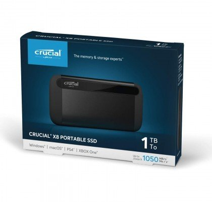 Crucial 1TB X8 Portable SSD CT1000X8SSD9 2