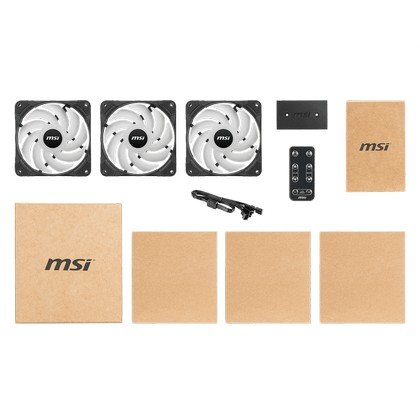 MSI MAX f12a 3h desktop computer case fan ARGB with controller 2