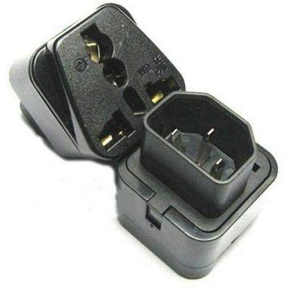 UPS C14 to Universal Female Socket Power Adapter AC Plug 2