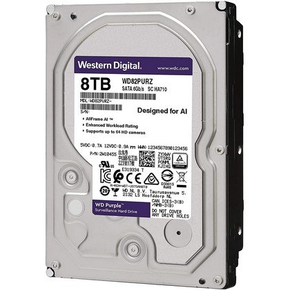 Western Digital WD Purple 8TB Surveillance Internal Hard Drive WD82PURZ 2