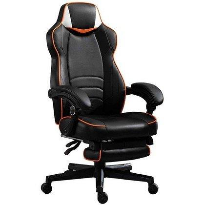 Mahmayi 459 Omega Gaming with Speaker Black Orange PU Gaming chair 2