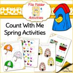 Hot Off the Press – Count With Me – Spring – File Folder Activities