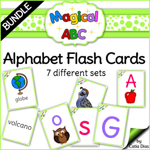 Alphabet Flashcards - 7 different sets