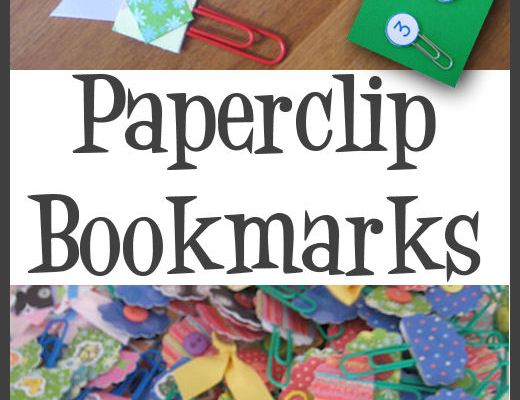 Making cute paperclip bookmarks