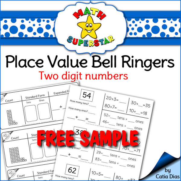 Place Value Bell Ringers - 2 digit numbers