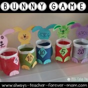 Bunny Game from pop bottles